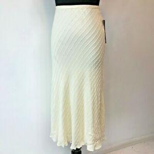 Lauren by Ralph Lauren Beaded Silk Skirt